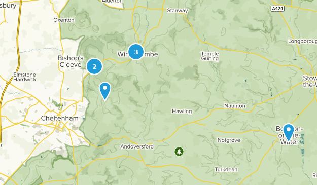 Cheltenham, Gloucestershire Hiking Map