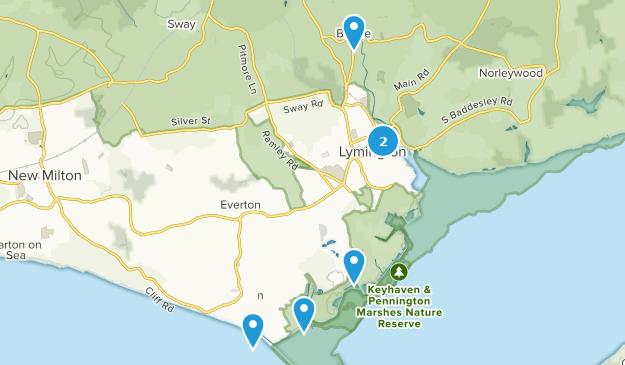 Lymington, Hampshire Hiking Map