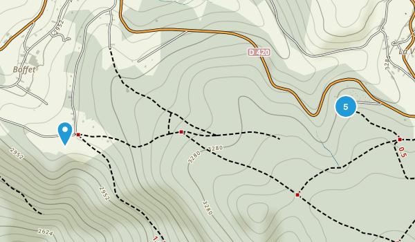 Saint-Nicolas-Des-Biefs, Allier Trail Running Map