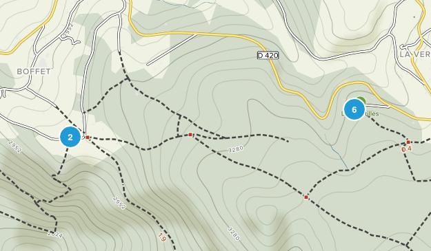 Saint-Nicolas-Des-Biefs, Auvergne-Rhône-Alpes Hiking Map