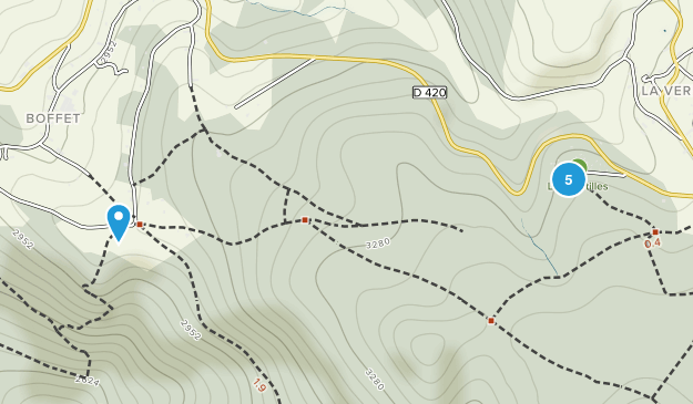 Saint-Nicolas-Des-Biefs, Auvergne-Rhône-Alpes Trail Running Map