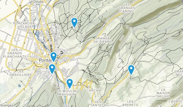 Pontarlier, Bourgogne-Franche-Comté Views Map