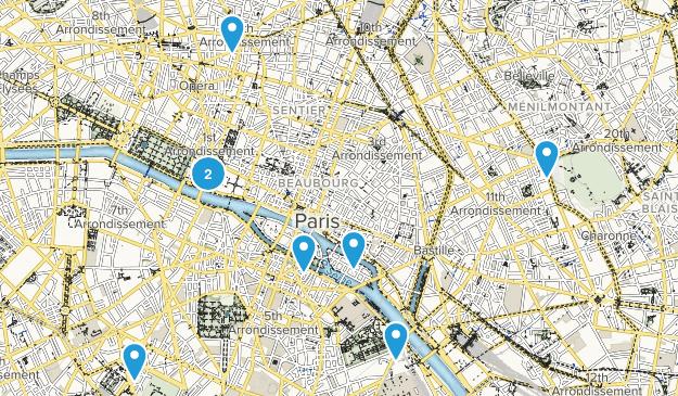 Paris, Île-de-France Kid Friendly Map