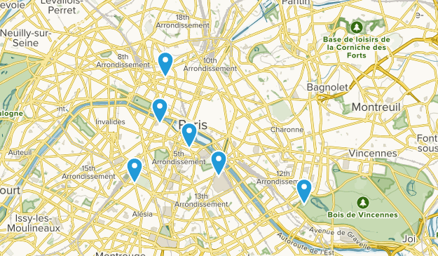 Paris, Île-de-France Views Map