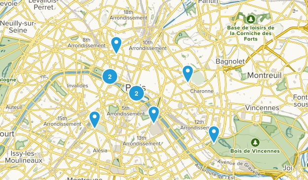 Paris, Île-de-France Walking Map