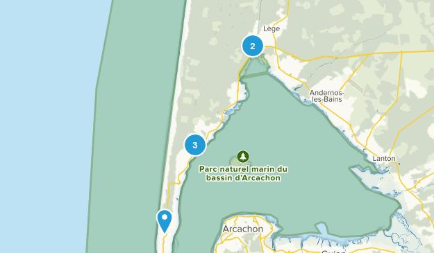 Lège-Cap-Ferret, Nouvelle-Aquitaine Walking Map