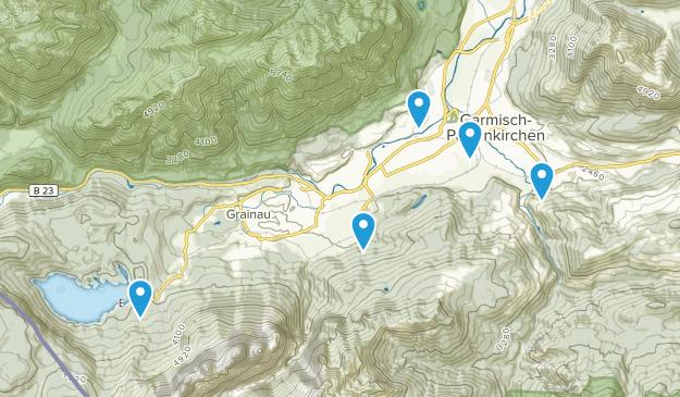 Garmisch-Partenkirchen, Bavaria Hiking Map