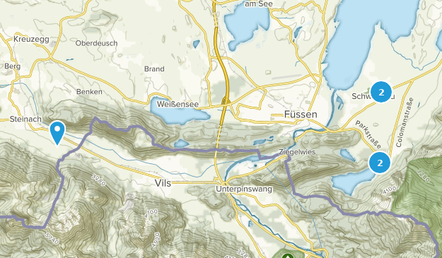 Schwangau, Bayern Hiking Map