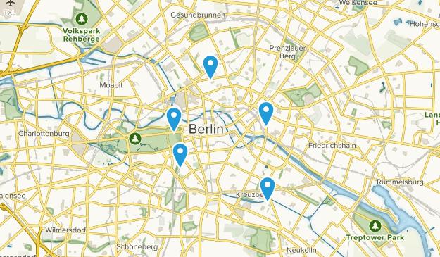 Friedrichswerder, Berlin Hiking Map