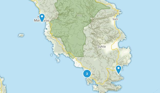 Sithonia, Central Macedonia Walking Map