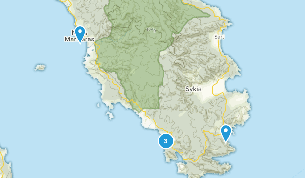Sithonia, Central Macedonia Wild Flowers Map