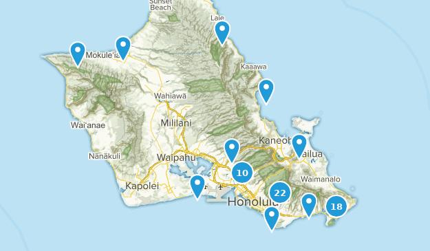 Honolulu, Oahu Bird Watching Map