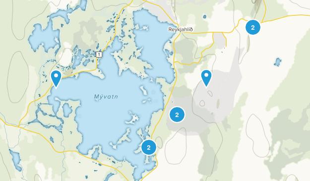 Skútustaðahreppur, Norðurland eystra Nature Trips Map