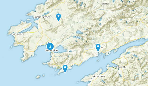 Waterville, Ireland Camping Map