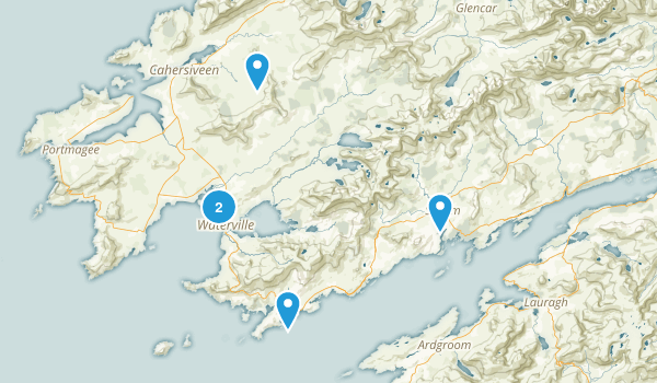 Waterville, Ireland Hiking Map