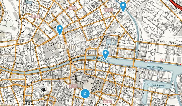 Dublin, Dublin City Walking Map
