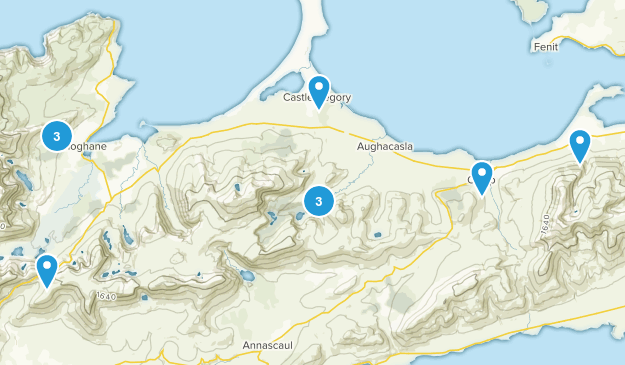 Castlegregory, Kerry County Hiking Map