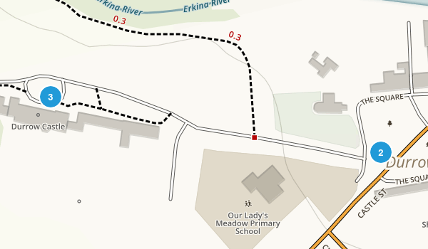 Durrow, Laois Walking Map