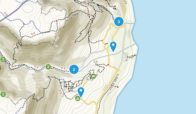 Ein Gedi, HaDarom Hiking Map