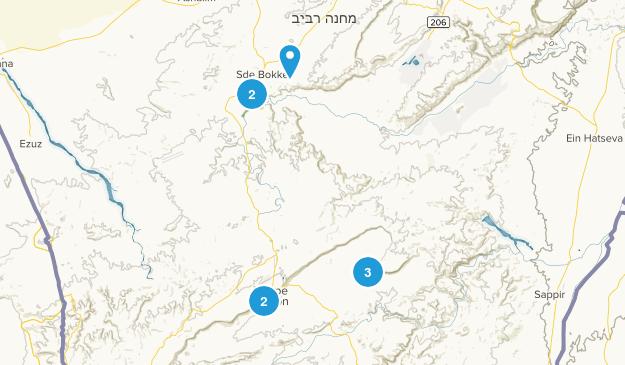 Beersheba, Southern Hiking Map