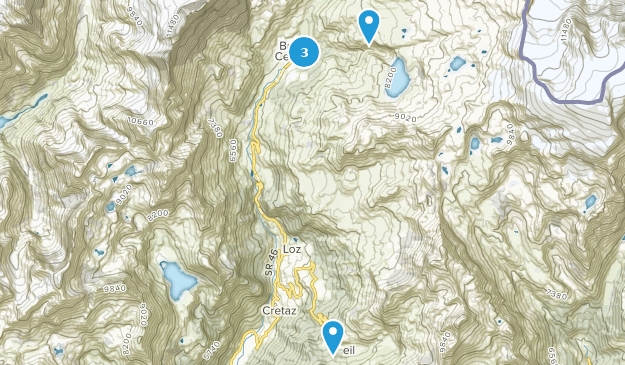 Valtournenche, Aostatal Hiking Map