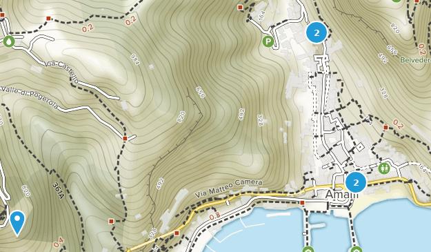 Amalfi, Campania Hiking Map