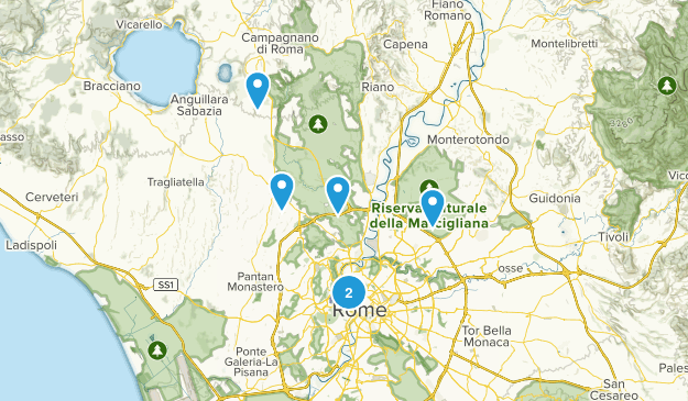 Roma, Lazio Hiking Map