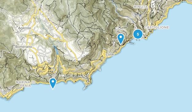 Amalfi, Salerno Nature Trips Map