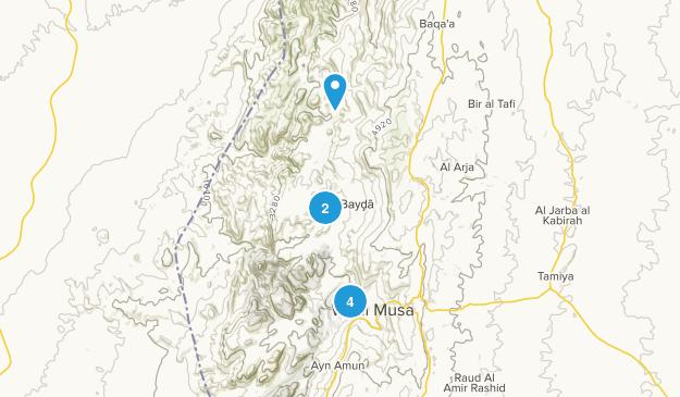 Al Bayḑā, Ma`an Hiking Map