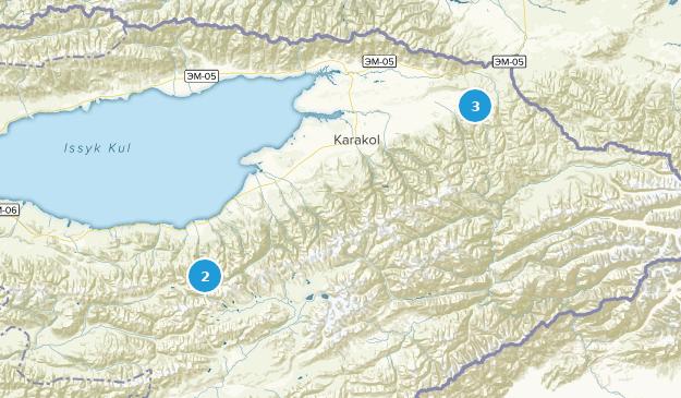 , Ysyk-Köl Views Map