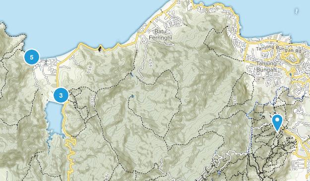 Pulau Pinang, Pulau Pinang Walking Map