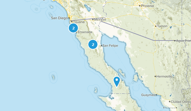 Ensenada, Baja California Camping Map