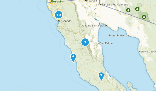 Ensenada, Baja California Hiking Map