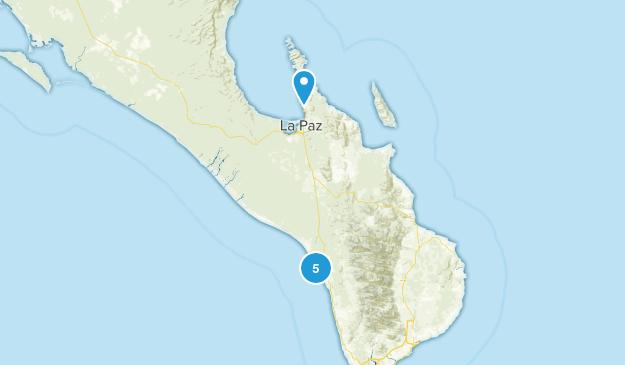 La Paz, Baja California Sur Beach Map