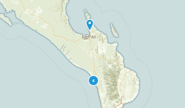La Paz, Baja California Sur Nature Trips Map