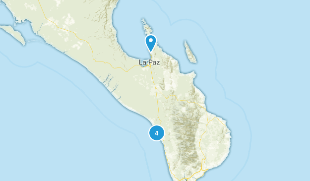 La Paz, Baja California Sur Walking Map