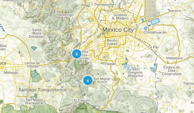 Mexico City, Distrito Federal Hiking Map