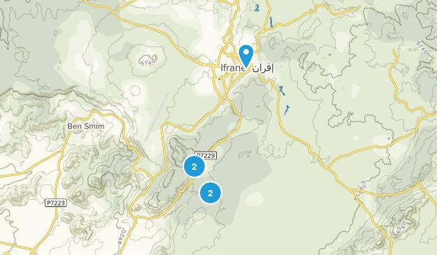 Ifrane, Marrakech - Tensift - Al Haouz Trail Running Map