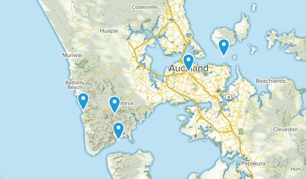 Auckland, Auckland Region Backpacking Map