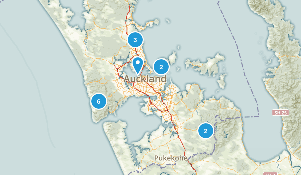 Auckland, Auckland Region Forest Map