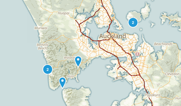 Auckland, Auckland Region Historic Site Map