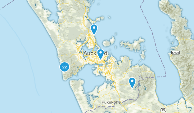 Auckland, Auckland Region Nature Trips Map