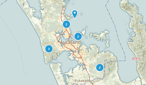 Auckland, Auckland Region Trail Running Map
