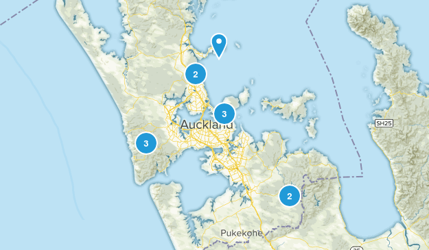 Auckland, Auckland Region Trail Running Map