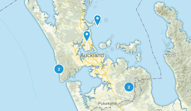Auckland, Auckland Region Waterfall Map