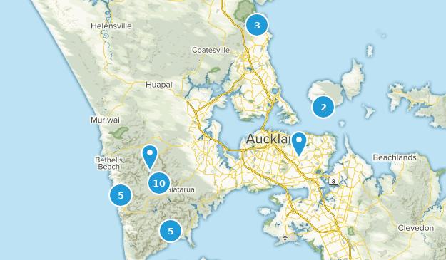 Auckland, Aukland Birding Map