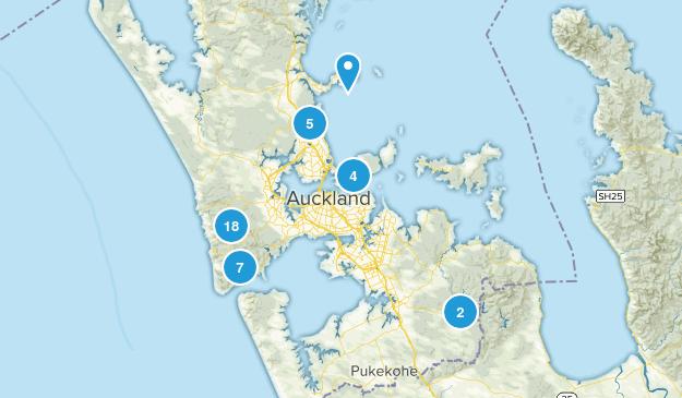 Auckland, Aukland Hiking Map