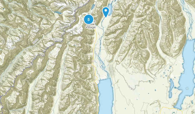 Aoraki/Mount Cook, Canterbury Region Hiking Map