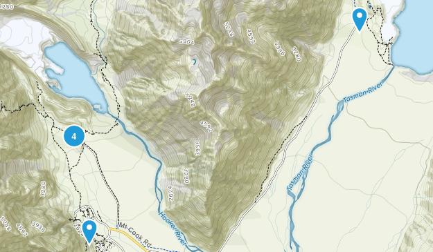 Aoraki/Mount Cook, Canterbury Region Views Map