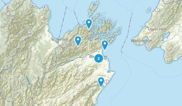 Blenheim, Marlborough Region Walking Map